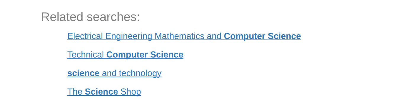 Related queries for 'computer science'
